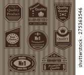set of vintage retro labels and ... | Shutterstock .eps vector #275363546