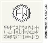 stylish  graceful monogram  ... | Shutterstock .eps vector #275364233