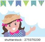 hillbilly girl background with... | Shutterstock .eps vector #275370230