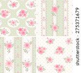 seamless floral polka dot...   Shutterstock .eps vector #275371679