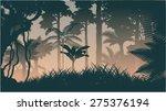 vector evening in jungle | Shutterstock .eps vector #275376194