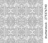 unique coloring book square... | Shutterstock .eps vector #275376740