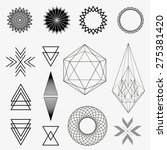 set of geometric shapes  line... | Shutterstock .eps vector #275381420