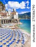 italian holidays  scenic amalfi ... | Shutterstock . vector #275386790