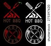 hot bbq grill vector labels... | Shutterstock .eps vector #275397620