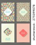 set of brochures in retro style.... | Shutterstock .eps vector #275399078