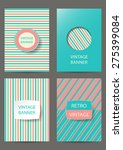 set of brochures in vintage... | Shutterstock .eps vector #275399084