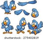 cartoon blue bird in different... | Shutterstock .eps vector #275402819