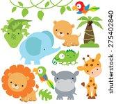 jungle animal vector... | Shutterstock .eps vector #275402840