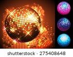 sparkling gold disco ball.  | Shutterstock .eps vector #275408648