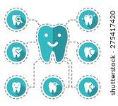 vector illustration of dental... | Shutterstock .eps vector #275417420