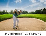golfers are hit ball on the... | Shutterstock . vector #275424848