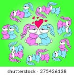 kamasutra positions with rabbits | Shutterstock .eps vector #275426138