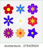 vector flowers  simple | Shutterstock .eps vector #275429024