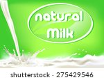 milk splashes | Shutterstock .eps vector #275429546