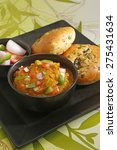 pao bhaji   indian spicy food | Shutterstock . vector #275431634