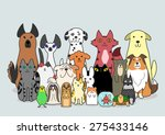 dogs  cats and small animals... | Shutterstock .eps vector #275433146