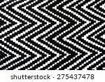 black and white zigzag textured ...   Shutterstock . vector #275437478