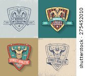 retro emblem of athletic club ... | Shutterstock .eps vector #275452010