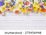 border from colorful yellow ... | Shutterstock . vector #275456948