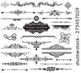 vector set of calligraphic... | Shutterstock .eps vector #275457029