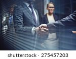 close up of businessmen... | Shutterstock . vector #275457203