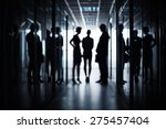 silhouettes of three business... | Shutterstock . vector #275457404