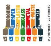 trash categories composition... | Shutterstock .eps vector #275458850