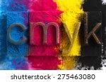 cmyk made from old letterpress... | Shutterstock . vector #275463080