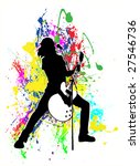 colorful concert background...   Shutterstock .eps vector #27546736
