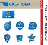 Oklahoma Flag Set  Us State ...