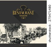 restaurant menu design. vector... | Shutterstock .eps vector #275471480