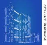 perspective 3d render of... | Shutterstock .eps vector #275474180