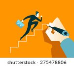 businessman running on the... | Shutterstock .eps vector #275478806