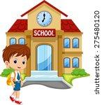 little boy going to school | Shutterstock . vector #275480120
