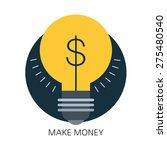 make money flat icon concept  | Shutterstock .eps vector #275480540
