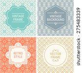 set of vintage frames in orange ...   Shutterstock .eps vector #275483339