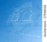 architecture blueprint ... | Shutterstock . vector #27548428
