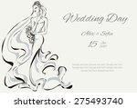 wedding day invitation with... | Shutterstock .eps vector #275493740