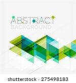 abstract geometric background.... | Shutterstock .eps vector #275498183