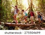 group of friends on walk... | Shutterstock . vector #275504699