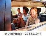 three women sitting in rear...   Shutterstock . vector #275511044