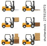 Forklift Truck Vector...
