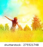 happy woman | Shutterstock . vector #275521748