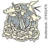 sailor tattoo art design. new... | Shutterstock .eps vector #275521973