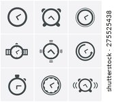 time clock icons set  vector... | Shutterstock .eps vector #275525438