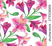 alstroemeria watercolor... | Shutterstock .eps vector #275528000