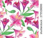 alstroemeria watercolor... | Shutterstock .eps vector #275528000