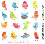 vector watercolor set  cute... | Shutterstock .eps vector #275532734