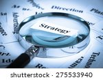 magnifying glass is focusing on ... | Shutterstock . vector #275533940
